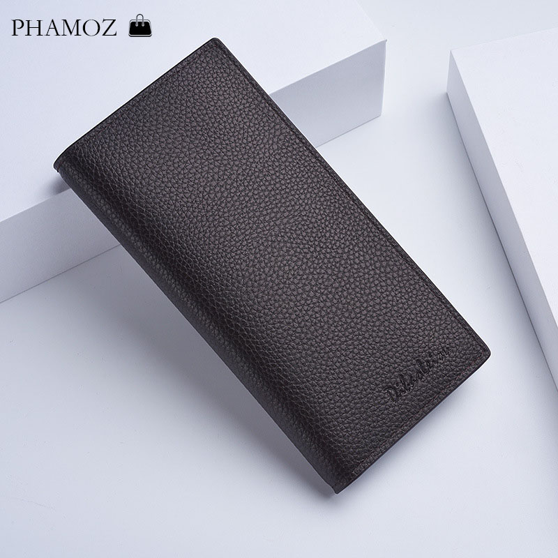 Men Wallets Luxury Leather Long Male Slim Thin Business  Purse Clutch Purse Wallet  For Credit Card