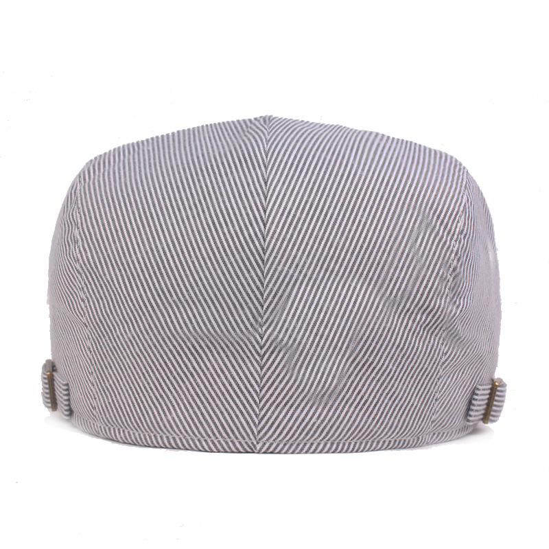 SILOQIN Snapback Cap Women 39 s Cotton Berets 2019 New Summer Men 39 s Striped Hats Adjustable Head Circumference Size Couple Hat in Men 39 s Berets from Apparel Accessories