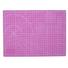 Pink Plastic Cutting Mat Pad PVC Self-Healing A4 Office Home Paper Craft DIY Tool Bricolage Double Sided Grid Line Cutting Board