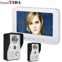 SmartYIBA Home Security Intercom 7 Inch Wired Video Door Phone System Visual Video Intercom Doorbell 1