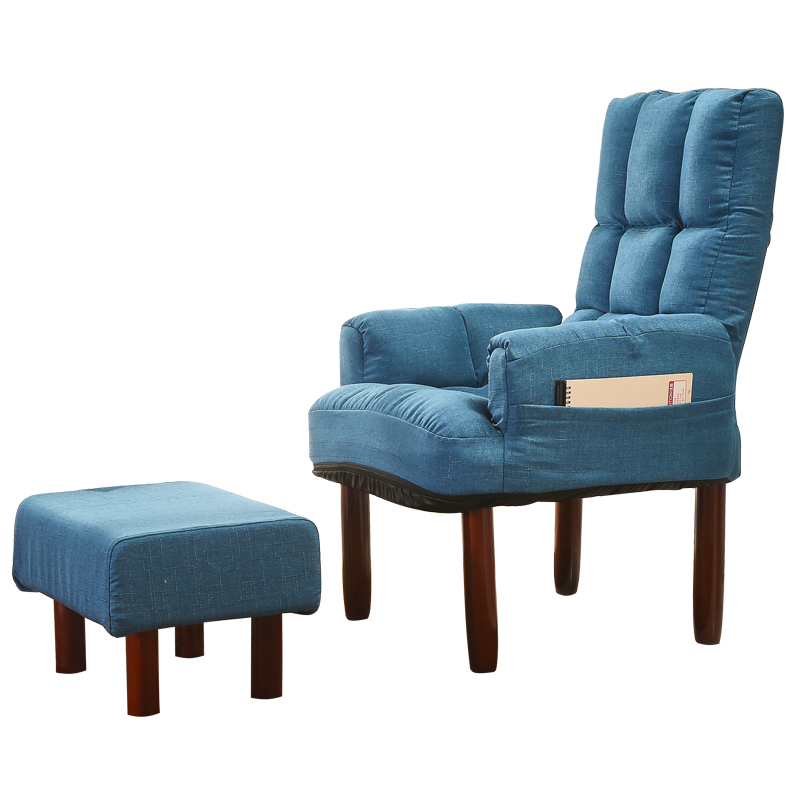 fabric upholstered occasional recliner chair backrest reclining living room modern accent