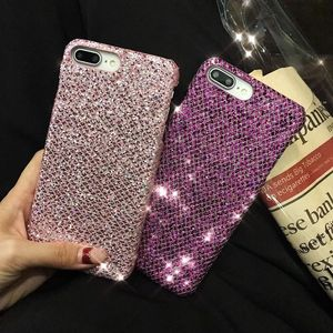 Image 3 - 50 قطعة بلينغ الذهبي الحرير الترتر غطاء حقيبة لهاتف أي فون X 7 8 6s 6 Plus لينة حافة الظهر جراب هاتف ل Oppo R9 R9S R11 R11S زائد