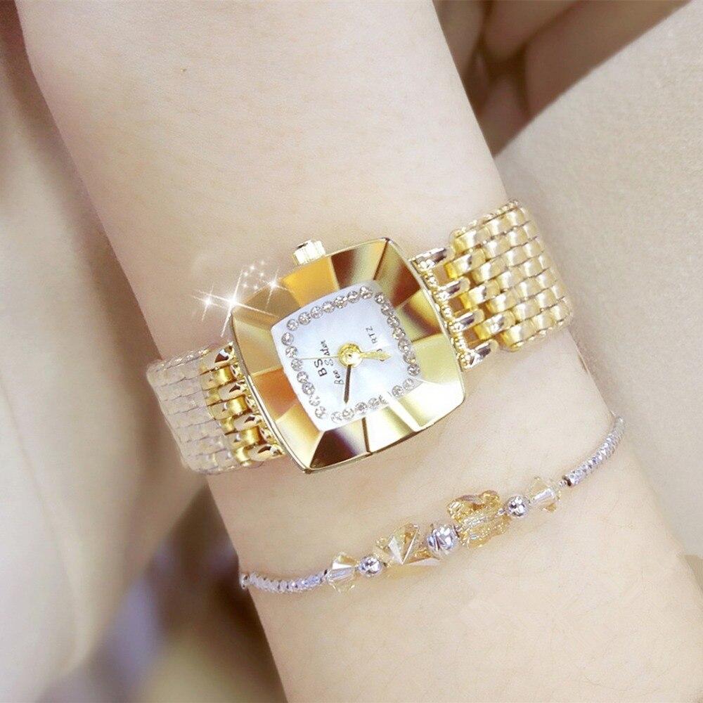 Brand Luxury Women Bracelet Watches Fashion Girl Dress Wristwatch Ladies Quartz Sport Clock Women Rose Gold Watch Relojes Mujer