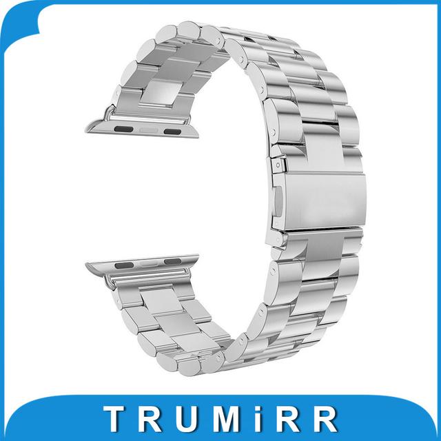 22mm 24mm pulseira de aço inoxidável para iwatch apple 38mm 42mm substituição watch band strap link pulseira com adaptador e uma ferramenta