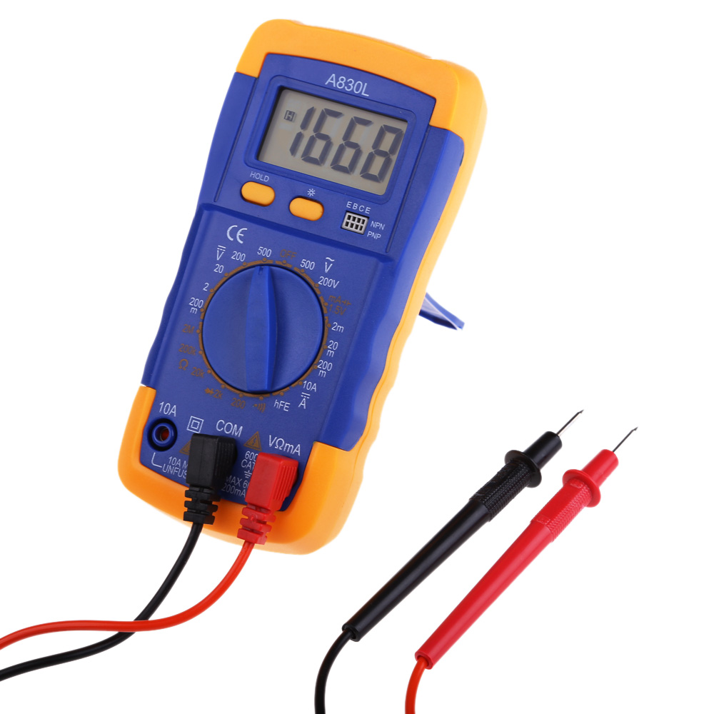 Multi-function Precision Electrical Instruments  Digital LCD AC DC multimeter  Handheld Mini Pocket Tester  A830L BS  цены