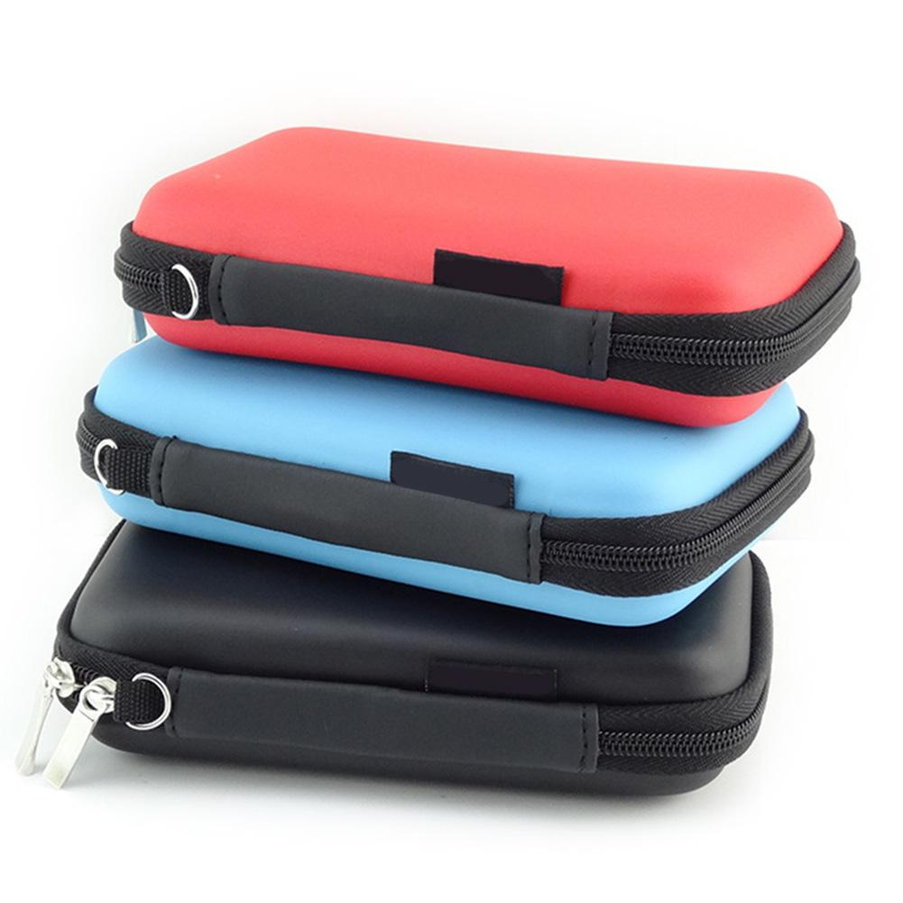 2.5inch Portable Hard Disk Drive Data Cable Earphones Storage Cosmetic Bag Case Organizer