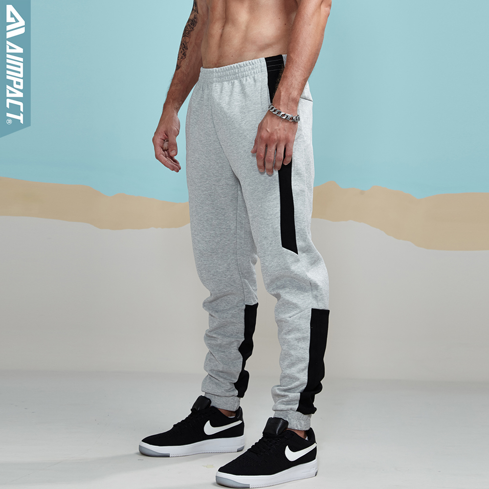 Aimpact 2018 New spring Joggers Pants Men Cotton Patchwork Sweatpants Man Fitted Track Pants Active lounging Pants Male AM5002