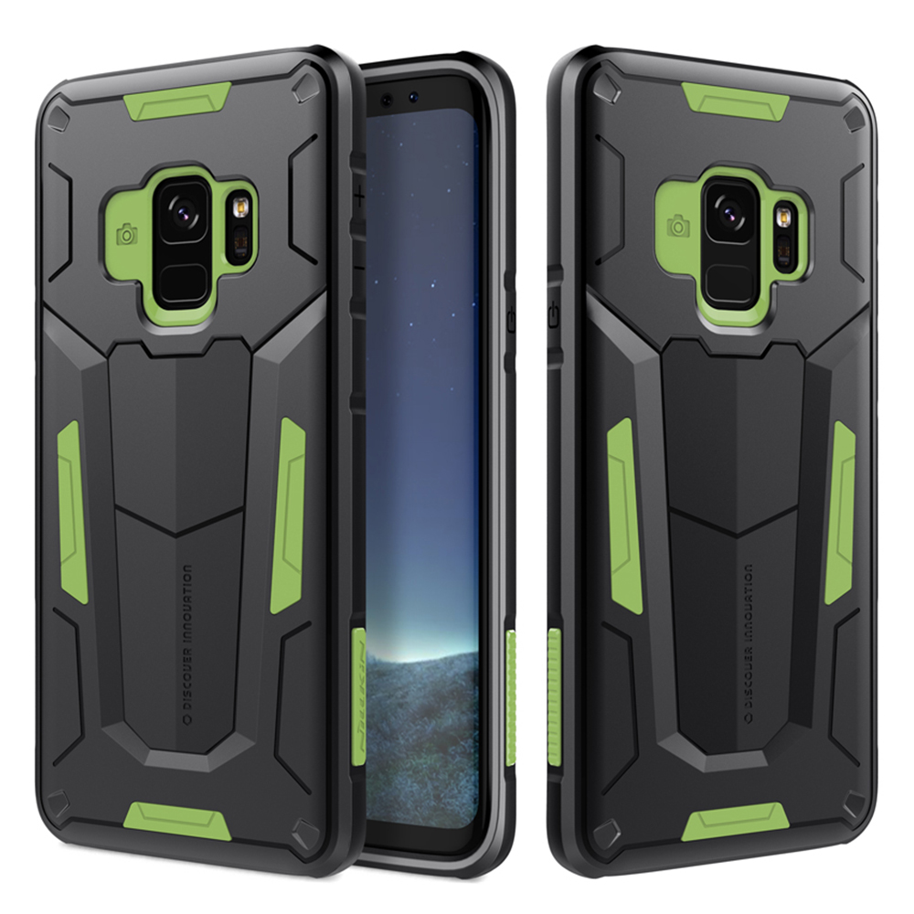 pretty nice a74d9 c6130 US $12.49  For Samsung Galaxy S9 Nillkin Defender Case Impact Hybrid Armor  Hard Protect Cover Strong For Galaxy S9 Plus Phone Cases-in Fitted Cases ...