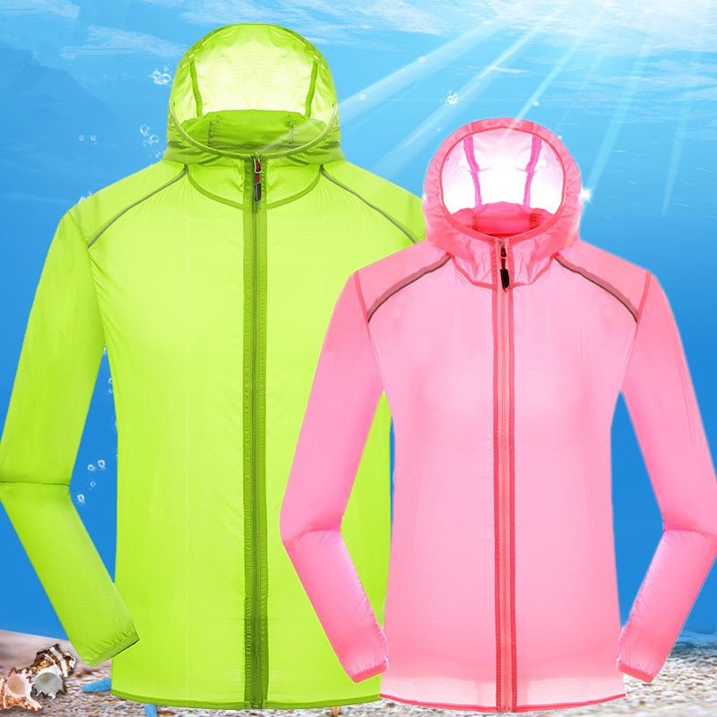 2019 Quick Drying skin Windbreaker Sun Protection Clothing men women Ultra-thin Waterproof Breathable uv protection shirt(China)
