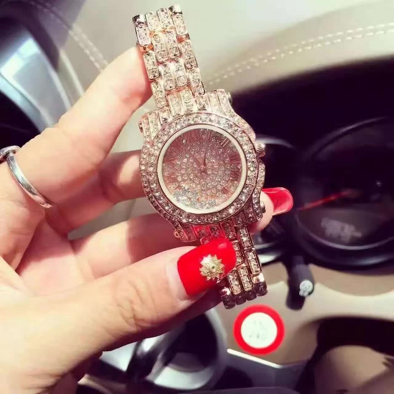 2016 Arrival Famous Brand Bling Watch Women Luxury Austrian Crystals Watch Rose Gold Shinning Diomand Rhinestone Bangle Bracelet