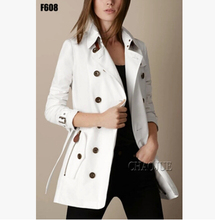 S-3XL spring autumn new women's brand fashion outerwear Plus size slim double-breasted Joining together In the long trench coat