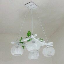 País rústico de madera vidrio comedor lámpara colgante restaurante barra de Bar del jardín de la lámpara cristal cocina lámpara pendiente