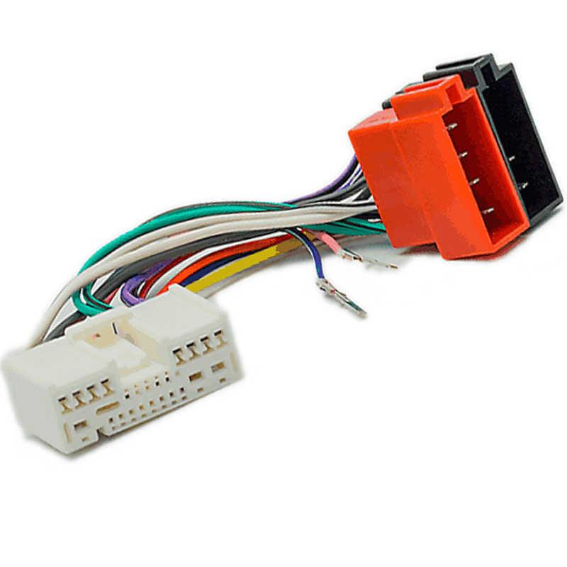 iso wiring harness adaptor cable connector plug wire for mazda 6 626 mazda 2  demio mazda