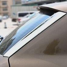 цена на For Audi Q3 ABS Chrome Car Rear Windshield Strips Exterior Tail Window Decoration Sequin 3D Sticker cover trim Accessories 2pcs