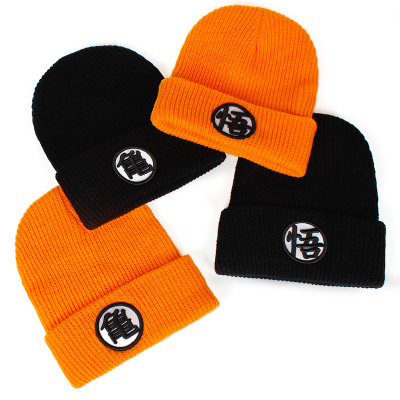 high quality Dragon Ball Z Wukong hat   skullies   hip hop hat winter warm hat fashion Fashion Knitted Winter   Beanies   cap Hats