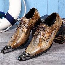 Christia Bella Marke Vintage Retro Männer Oxford Schuhe Aus Echtem Leder Formale Kleid Hochzeit Schuhe Lace Up Brogues herren flache