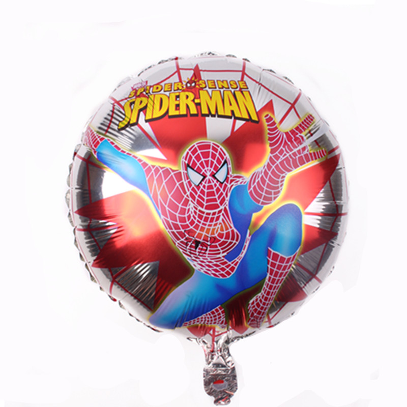 Ambitious Xxpwj Free Shipping Round Spiderman Aluminum Balloon Birthday Party Toys Balloon Wholesale M-017 Buy One Give One Home & Garden Ballons & Accessories