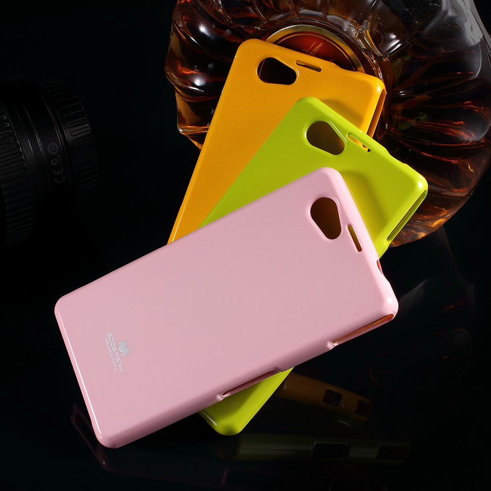 Mercury Goospery For Sony Xperia Z2 D6502 D6503 Green Glossy Pearl Jelly Case All Type Special  Yellow Z1 Mini Compact D5503 Cover Glittery Powder Tpu Back