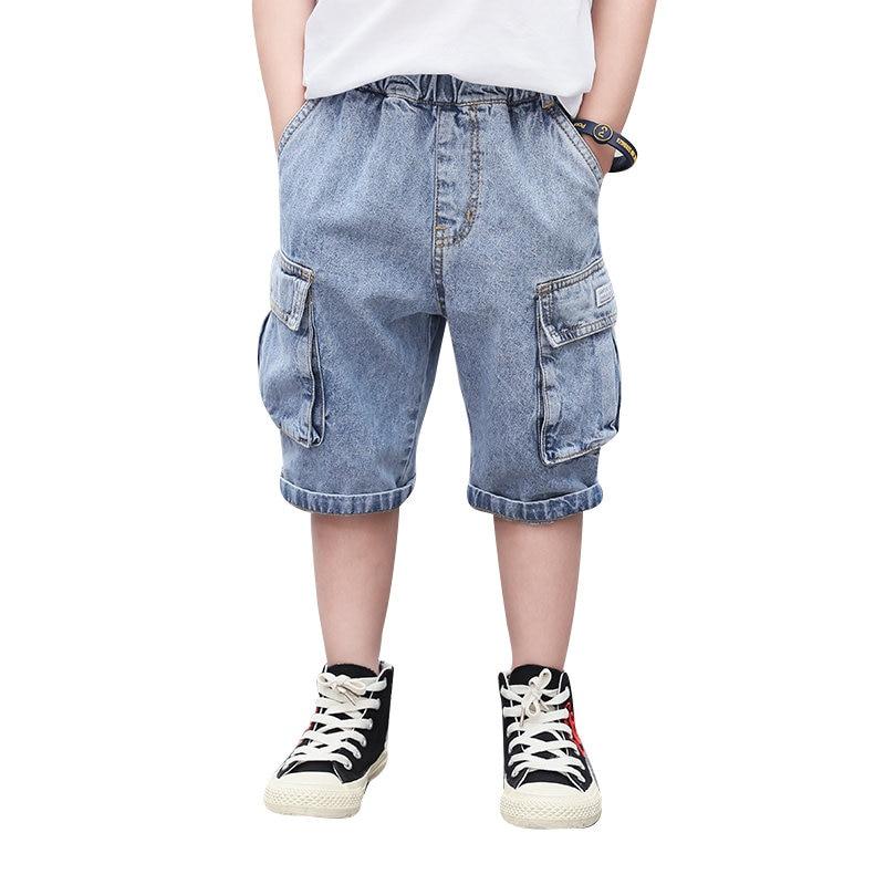 meninos calcas de brim curtas verao criancas casual denim calcas curtas 4y 13y criancas menino macio
