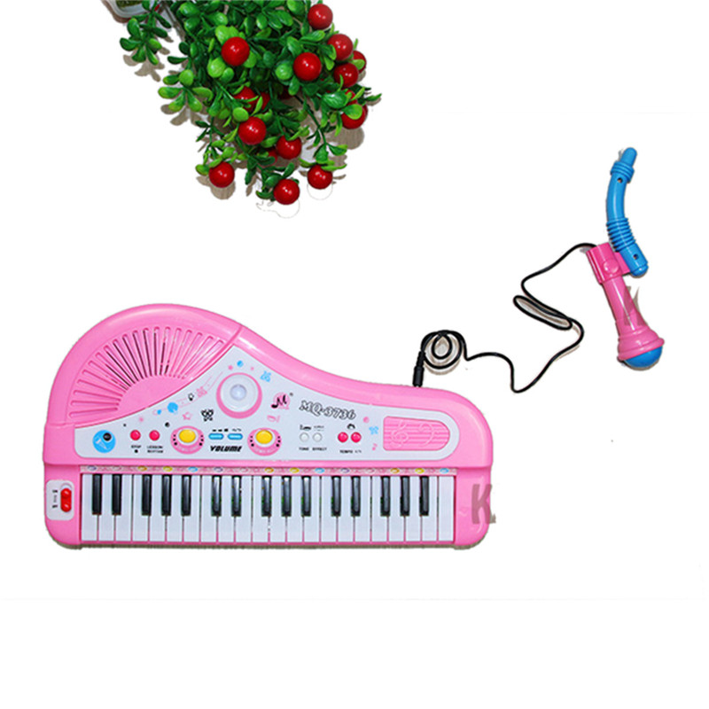 37 clés enfants bébé musique jouets Instumento Musical enfants bébé Piano avec Microphone Instruments de musique pour enfants - 5