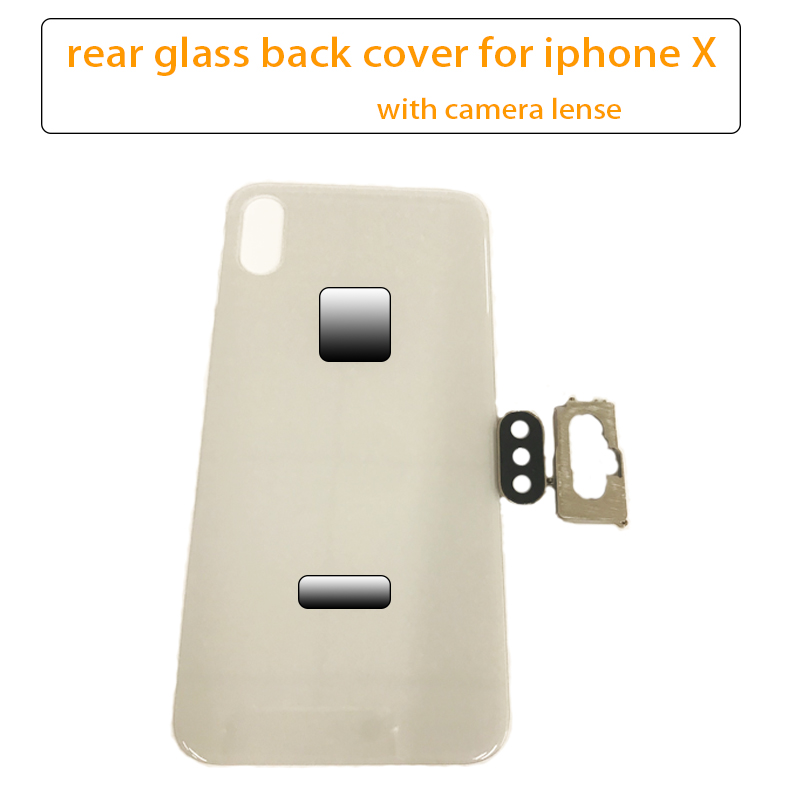 Rear-Housing-Replacement Back-Glass Battery-Cover Camera for Xs/xs MAX with Lense And