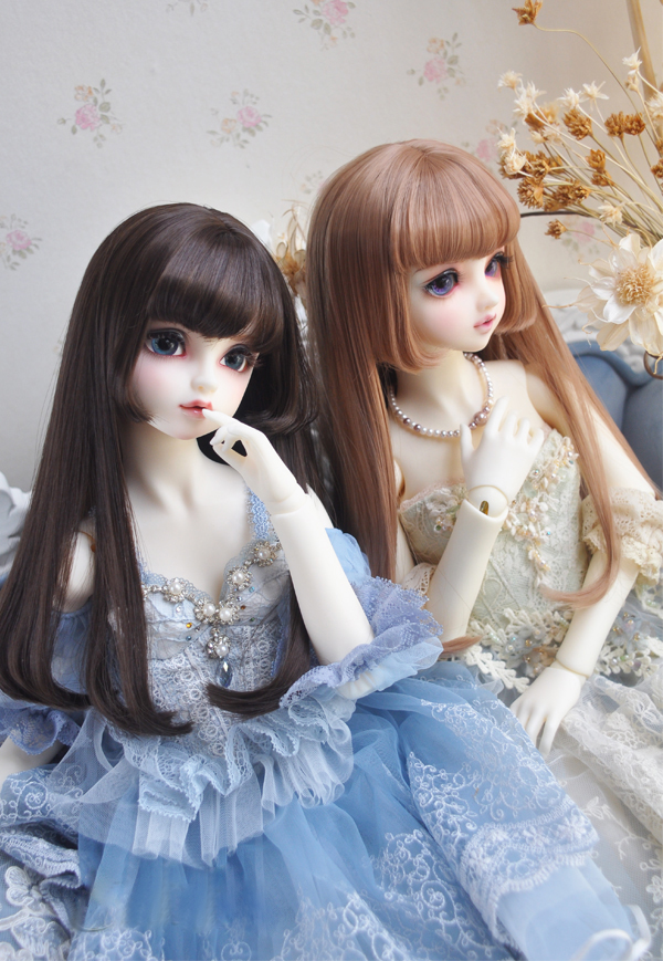 BJD doll wigs pear flower sideburns pear flower roll High-temperature wire for 1/3 1/4 1/6 BJD DD SD MSD doll wigs new 1 3 bjd wig fringe short hair doll diy high temperature wire for 1 4 msd bjd sd dollfie