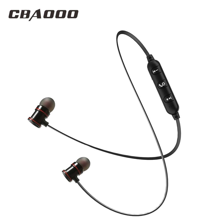 CBAOOO Magnetische Bluetooth Kopfhörer Drahtlose headsets Mit Mic Bass Sport Drahtlose Blutooth Kopfhörer ohrhörer Für handys