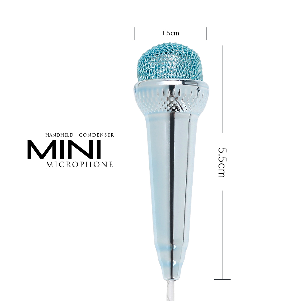 Microphones microphone for phone earphone kit music sound recorder smartphone wire karaoke microphone mini for phone (2)