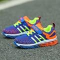 Zapatos corrientes de los deportes de aire zapatos de niños zapatillas de deporte para niños y niñas 2016 otoño transpirable zapatos de los niños zapatos deportivos