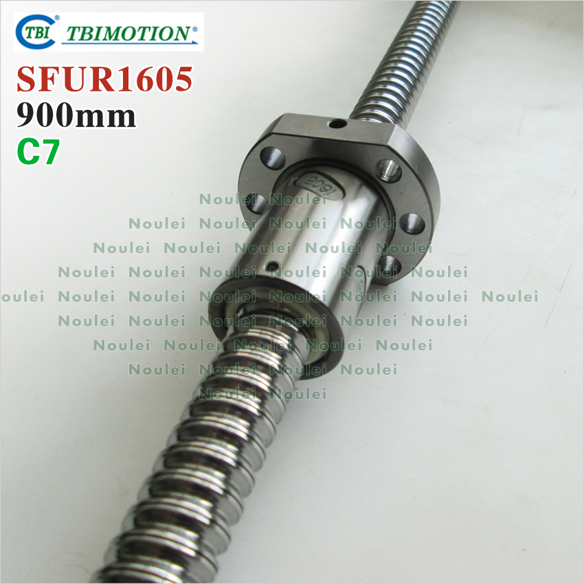 TBI MOTION 1605 C7 900mm ball screw 5mm lead with SFU1605 ballnut of Custom length for CNC kit SFU set горелка tbi 240 5 м esg
