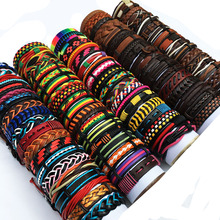 ZotatBele Großhandel Groß Viele Gelegentliche 30 Teile/los Mix Stile Leder Manschette Armbänder der Frauen der männer Schmuck Party Geschenke MX15