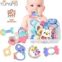 Купить с кэшбэком Tumama Baby Rattles Toys Teether Music Hand Shake Bed Bell Ring Newborns ABS Animal Rattles Educational Baby Toys 0-12 Months