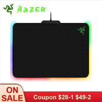 Razer Customizable Lighting Mouse Pad Firefly Cloth Edition Mousepad Chrome Lighting with USB Connector Gaming Mouse Pad