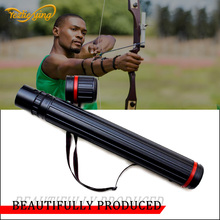 High Quality Adjustable 50-90cm Arrow Stand Black Archery Quiver PVC Arrow Hunting Tube Bag цена