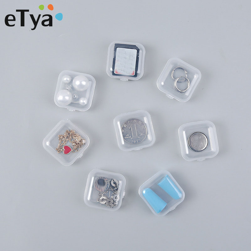 eTya 10pcs Portable Women's Mini Jewelry Box Organizer Case Travel Accessories Multifunction Jewelry Packaging Box Dropshipping