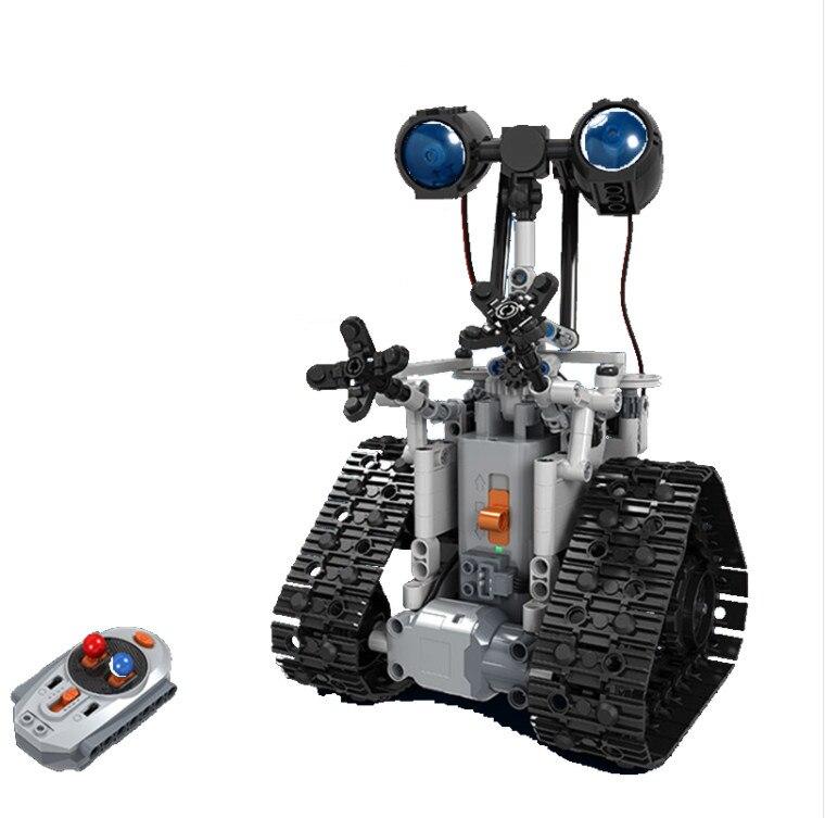 Bricolage 2.4G Patrouille robot rc Bloc Bâtiment Infrarouge Contrôle Assemblé jouet robot