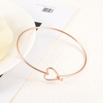 CMB0316  Wholesale or Retail Arrow heart Stainless Steel Cuff Bangle Multi-color Expandable Charm Bangle from direct factory