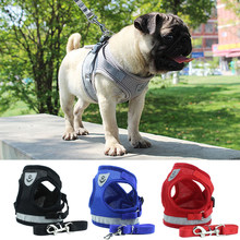 Reflective Safety Pet Dog Harness and Leash Set for Small Medium Dogs Cat Harnesses Vest Puppy Chest Strap Pug Chihuahua Bulldog(China)