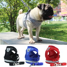 Harness Vest Leash-Set Puppy-Chest-Strap Bulldog Reflective Dogs-Cat Safety Pug Small
