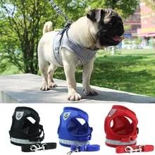 Harness Vest Leash-Set Puppy-Chest-Strap Bulldog Reflective Dogs-Cat Pug Small Chihuahua