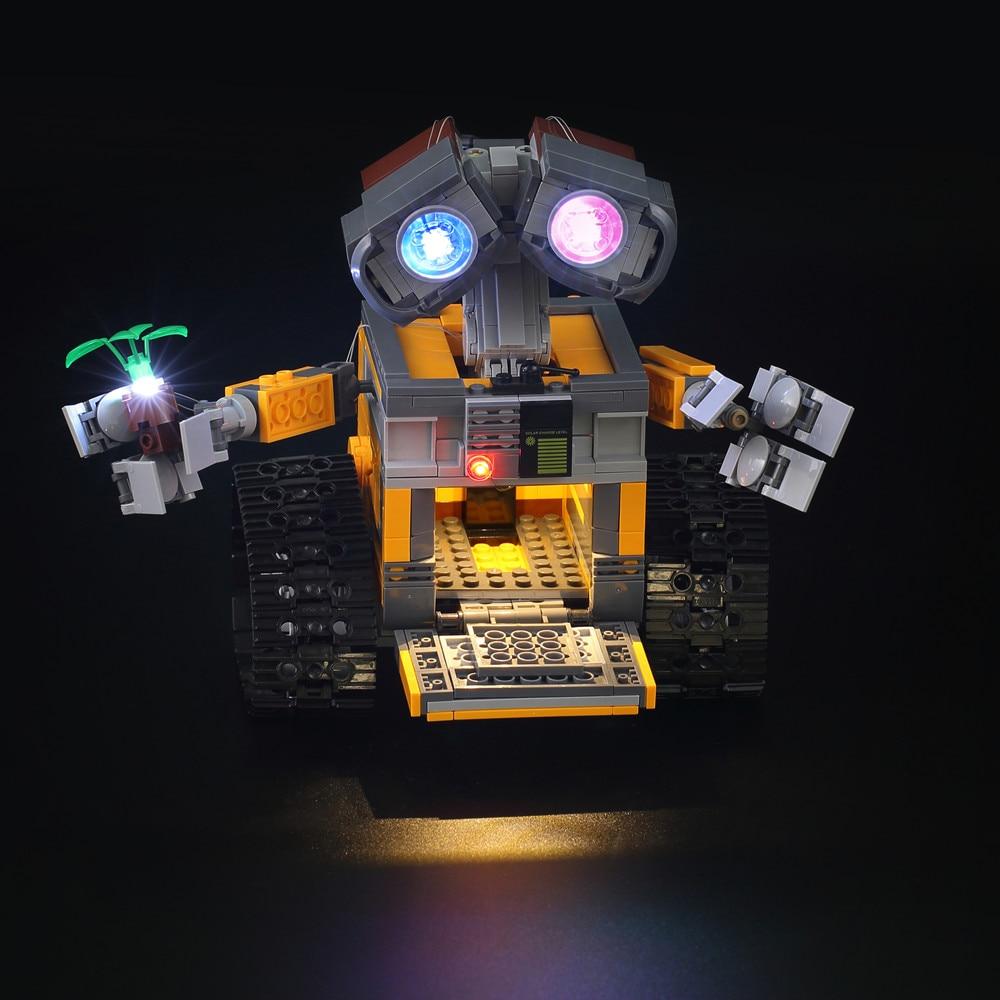 Led Light Kit (only Light Kit Included) For  21303 And 16003 Idea Robot WALL E Building Set KitsToys Eyes Light