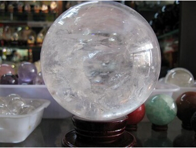 3000g natural clear quartz crystal ball sphere+stand