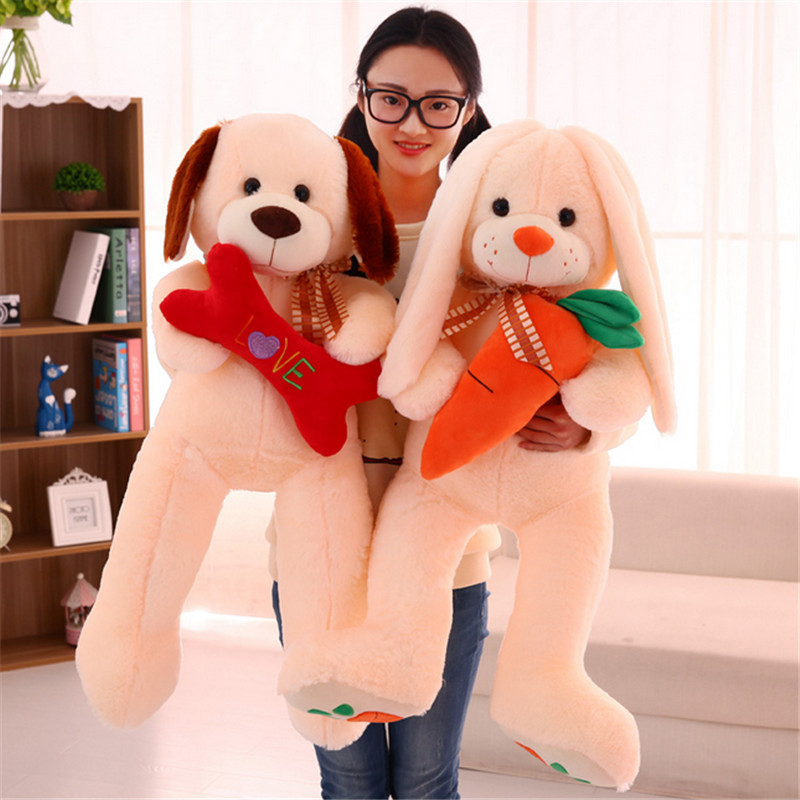 Fancytrader Pop Anime Big Dog Puppy Plush Doll Giant Soft Stuffed Bunny Toys 120cm for Girls Gifts fancytrader jumbo pop anime teddy bear toys plush stuffed soft giant bears animals doll 200cm 78 for valentine s day xma gifts