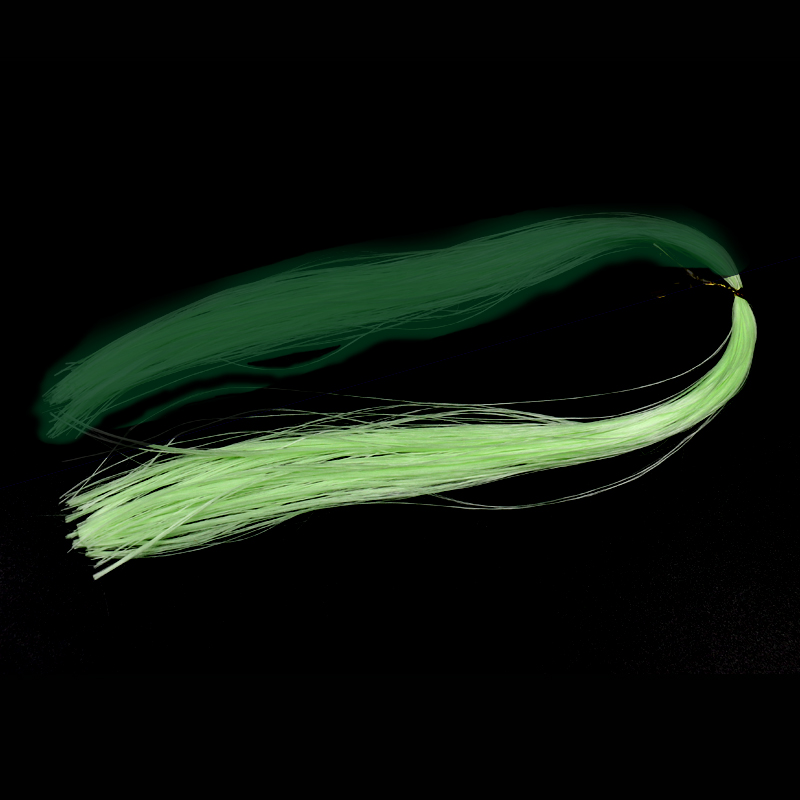 Wifreo 2 Bags Green Color Luminous Fly Tying Material EP Minnow fiber Dark Glow Fishing Flies Tying Hook Jigs Sabiki DIY Flash 5sheets pack 10cm x 5cm holographic adhesive film fly tying laser rainbow materials sticker film flash tape for fly lure fishing