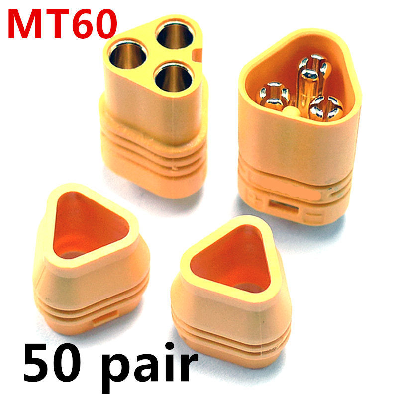 50 Pairs/lot 3 phase MT60 ESC Motor EPlug / Connector Set for Multicopter Quadcopter Airplane RC battery FPV rc parts