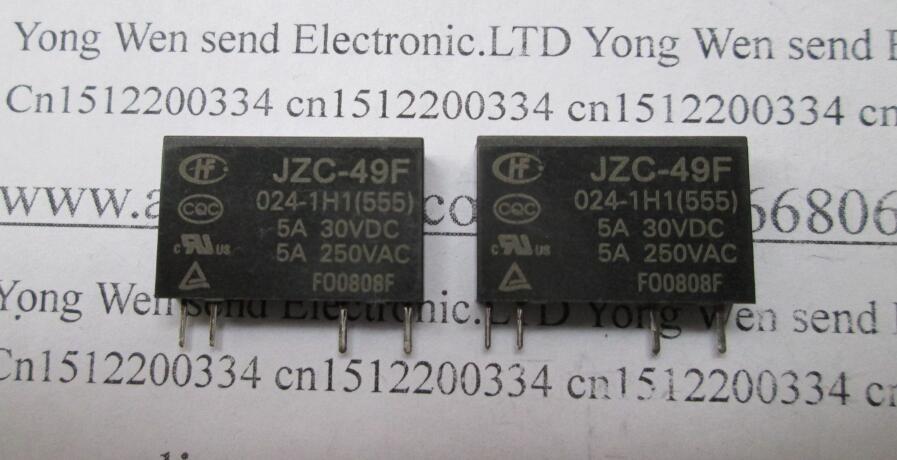 NEW relay JZC-49F-024-1H1 HF49F-024-1H1 HF49F 024-1H1 HF49FD 024-1H11 JZC-49F 024-1H1 24VDC JZC-49F 024-1H1-24VDC 24VDC 24V DIP4