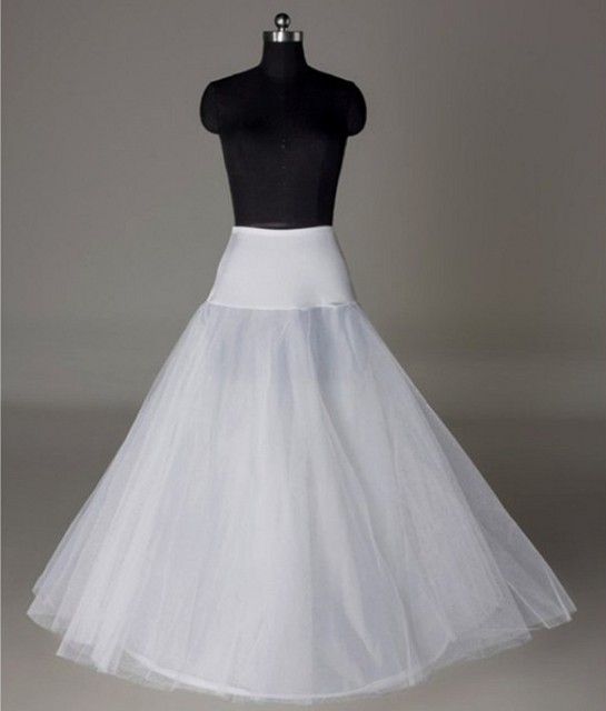 Bridal Slips Wedding Underskirt White Underdress Falda Brautpetticoat Long Crinoline Sottoveste A Line Petticoat Layer