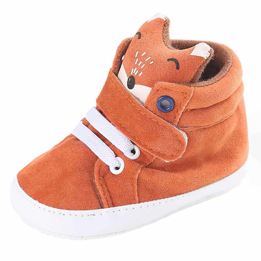 אופנה קלאסית בד סניקרס תינוקות בני בנות ראשון צעדים שועל גובה לחתוך תינוק נעליים רך sole החלקה תינוק נעלי 45 #