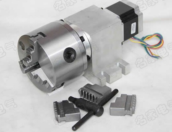 CNC Rotary axis,the A axis, the fourth rotation axis, K11 100mm  three claw chuck cnc 5 axis a aixs rotary axis three jaw chuck type for cnc router