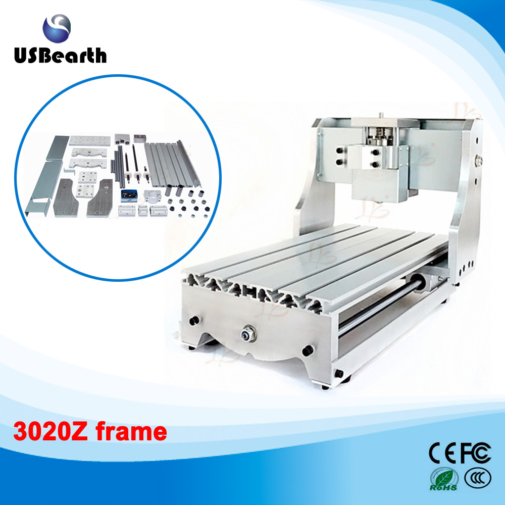 DIY CNC frame for 3020Z mini cnc router , engraving machine part with ball screw , no tax to Russia